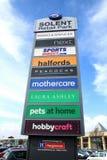 Solent Bedrijfs Kleinhandelspark, Havant Royalty-vrije Stock Fotografie