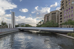 Soleri Bridge in Downtown Scottsdale Arizona Stock Image