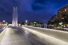Soleri Bridge in Downtown Scottsdale Arizona Stock Photos