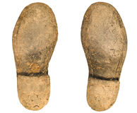 Soles. Old worn out worker boot soles Royalty Free Stock Photos