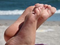 soles in the beach Royalty Free Stock Images