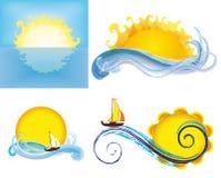 Soles y mares Fotografía de archivo