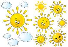 Soles y nubes libre illustration