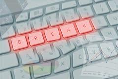 Soletração entortada do teclado de computador imagem de stock royalty free