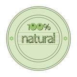 A soletração original da palavra 100% natural Imagem de Stock Royalty Free