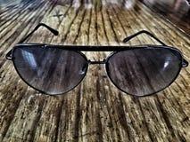 Solexponeringsglas i mörker Arkivfoton