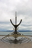 Solfar, Sun Voyager is huge steel sculpture of viking boat Stock Images