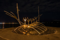 Solfar (Sun Voyager) at Night Royalty Free Stock Photography