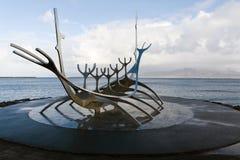 Solfar, The Sun Voyager In Reykjavik Iceland Stock Photos