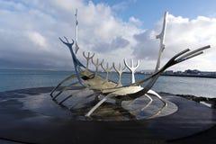 Solfar, The Sun Voyager In Reykjavik Iceland Stock Image