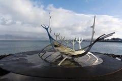 Solfar, The Sun Voyager In Reykjavik Iceland Royalty Free Stock Photos