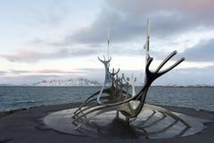 Solfar, The Sun Voyager In Reykjavik Iceland Royalty Free Stock Image