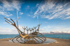 Solfar, The Sun Voyager In Reykjavik Iceland. Image of the Sun Voyager in Reykjavik, Iceland Royalty Free Stock Image