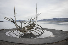 Solfar, The Sun Voyager, Reykjavik, Iceland stock images