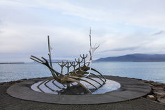 Solfar, Sun voyager sculpter in Reykjavik in Iceland Stock Photos