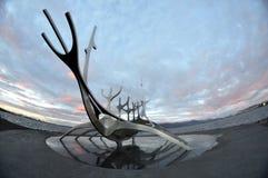 Solfar Suncraft in Reykjavik. IJsland Royalty-vrije Stock Afbeelding
