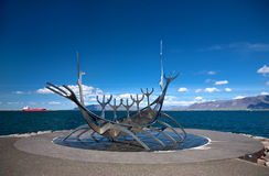 Solfar Suncraft Sculpture (Sun Voyager) Royalty Free Stock Image