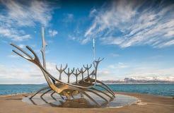 Solfar, viajero de The Sun en Reykjavik Islandia Imagen de archivo libre de regalías