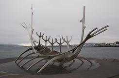 Solfar - viajero de Sun - escultura de Rejkjavik Imagen de archivo libre de regalías