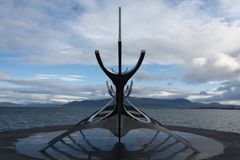 Solfarid - słońca Voyager w Reykjavik Fotografia Royalty Free