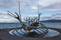 Solfarid - słońca Voyager w Reykjavik Obrazy Stock