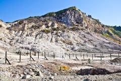 Solfatara - volcanic crater Royalty Free Stock Photos
