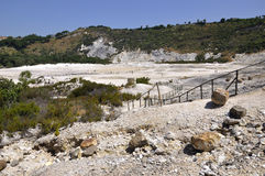 Solfatara volcanic crater Stock Photos