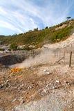 Solfatara vulkanische krater Stock Foto