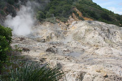 Solfatare, Soufriere, Santa Lucia Fotografie Stock