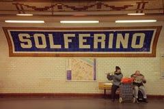 Solferino巴黎地铁车站 免版税库存图片