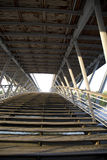 Solferino Bridge, Paris, France. Wood and metal Structure Royalty Free Stock Photos