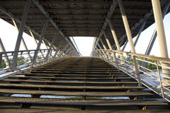 Solferino Bridge, Paris, France. Wood and metal Structure Royalty Free Stock Photography