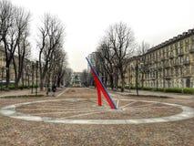 Solferino offentlig fyrkant i Turin Fotografering för Bildbyråer