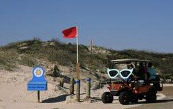 Solglasögon dekorerar en golfvagn för den barfota Mardi Gras Parade Royaltyfria Bilder
