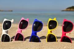 solglasögon för samlingsögonexponeringsglas arkivfoton