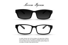 Solglasögon och glasögon Fotografering för Bildbyråer
