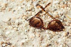 Solglasögon på jordningen Royaltyfria Bilder