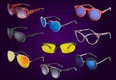 Solglasögon som dras i en polygonstil stock illustrationer