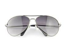 Solglasögon som isoleras på vit Arkivbilder