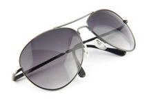 Solglasögon som isoleras på vit Fotografering för Bildbyråer