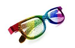 Solglasögon stordia, regnbågeflagga, LGBT-gemenskap, daggdroppe, begrepp, LGBT-rörelse, LGBT, arkivfoton