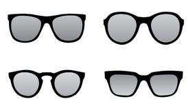 Solglasögon svärtar konturillustrationen Arkivfoto