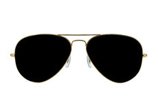 Solglasögonen isolerade vit Arkivbilder
