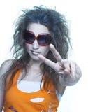 solglasögonkvinnabarn Arkivfoton