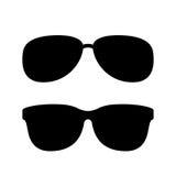 Solglasögonvektorsymbol royaltyfri illustrationer
