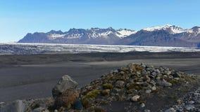 Solheimajokull冰川在冰岛 图库摄影