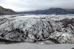 Solheimajokull Arkivbild