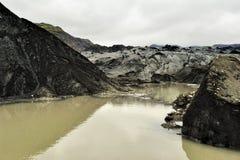 Solheimajokull glacier, Iceland Royalty Free Stock Images