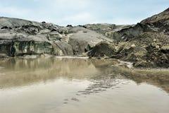Solheimajokull glacier, Iceland Stock Photo