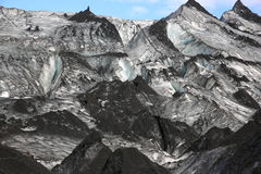 Solheimajokull Glacier Royalty Free Stock Images